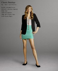 cute & put together look with blazer and striped bandage skirt