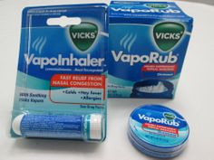 Combo Pack - Vicks Vaporub Ointment Cream Cough Suppressant and Topical Analgesic of 6 Oz JAR and Vapoinhealer Fast Relief From Nasal Congestion Plus a Free Takeaway Vaporub Ointment 0.45 Oz Travel Size Pack - Cos15 Vicks,http://www.amazon.com/dp/B00H9KZBTO/ref=cm_sw_r_pi_dp_3pUvtb0QWNVRFZCD