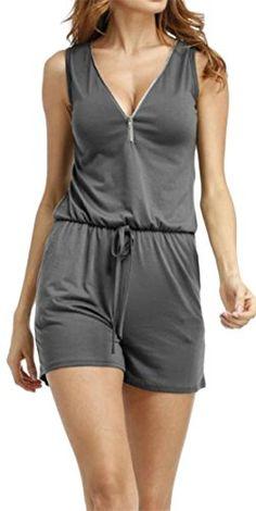 Twinsmall Women Casual V-Neck Leaf Printed Backless Bandage Sleeveless Lace-up Playsuit