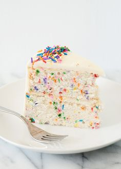funfetti cake recipe. Made this for a birthday dinner today, made cupcakes instead of a cake and they were wonderful! I also used marshmallow buttercream icing instead of the typical buttercream. Fantastic!