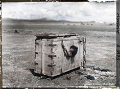 May 1922 National Geographic.  Caption reads 'A Mongolian Woman Condemned to Die of Starvation.'