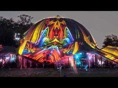 Ozora Festival 2014 Chill Out Dome Night Projection raypainting. Ozora Festivál 2014 Chill Out Dome Night Projection fényfestés. További információ: http://www.night-projection.hu