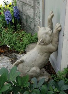 Как сделать садовую скульптуру из гипса