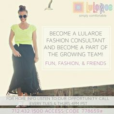I'm looking to help people! I have gained so much from this business that it almost sounds to good to be true. I went part time at my professional job so I could do this now! That is how serious I am about this business. If you want part time work for full time salary, email or text me! If you know someone who needs something like this and you refer them, you will get three free items of your choice when they sign up! #lularoe #debtfree #businessopportunity lularoewithnicole@gmail.com…