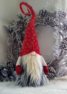 XL Scandinavian Christmas Gnome Whimsical Tomte Nisse