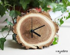 @Erin Reynolds - made me think of you. Awesome clock. Handmade wood clock wood art wood product DIY clock by mymade1, $35.00