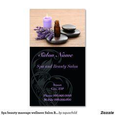 Spa Beauty Mage Wellness Salon Business Card