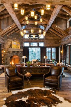 amazing rustic living rooms | To see the rest of this home: Rustic eclectic farmhouse in the Sonoran ...