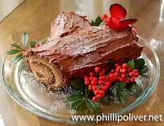 Triple Chocolate Buche de Noel (Yule Log) Recipe