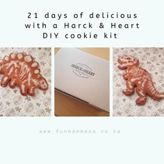 21 days of delicious with a Harck & Heart DIY cookie kit - Mamma & Bear Cleaning Paint Brushes, Cute Themes, Heart Diy, White Icing, Rainbow Sprinkles, Sugar Craft, Diy Box, 21 Days, Craft Stick Crafts