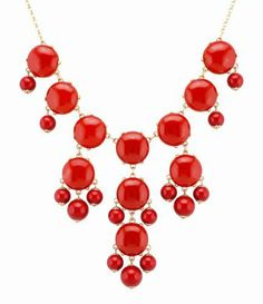 Color Bubble BIB Statement Fashion Necklace - Red Fun Daisy Jewelry. $10.90. what you see is what you get