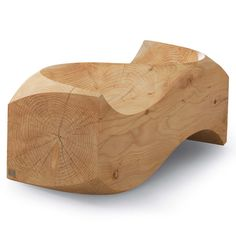 Love Seat by Jake Phipps: Made of solid cedar for indoor or outdoor use.