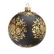 Black & Gold Ball Christmas Ornament