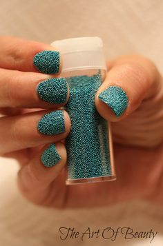 The Art Of Beauty: Caviar Nail Tutorial   i'm going to try this with cake candy topping~ :>
