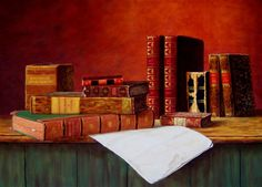 More Art by Gerd Renshof (Paintings of Books, of Course!