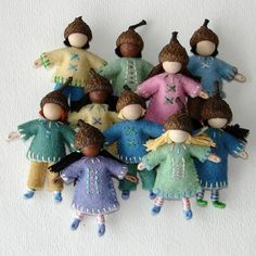 Little Waldorf Inspired Acorn Dolls