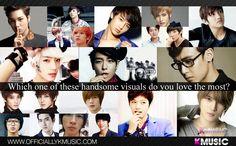 Which one of these handsome visuals do you love the most? A. Kai  B. Minhyun C. Jin D.L-Joe E.Minho F. Jaehyo  G.Luhan H.Joon I. Changmin J. Gogchan  K.T.O.P  L.Nichkhun  M.Jo twins  N.Gikwang  O.Siwon  P.Hyun Joong  Q.Kiseop  R.Yonghwa S. L  T.Jaejoong