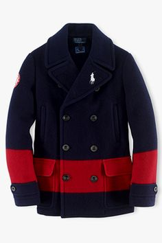 I need this Peacoat in Army Green with a Navy Blue Band!!! This is Ralph Lauren 2014 USA Collection