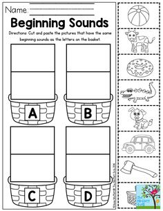 Beginning Sounds Letter Sorting- Perfect for Preschool! Beginning Sounds Letter Sorting- Perfect for Preschool! Preschool Letters, Letter Activities, Learning Letters, Preschool Lessons, Preschool Classroom, Preschool Worksheets, Preschool Learning, Kindergarten Worksheets, Preschool Activities