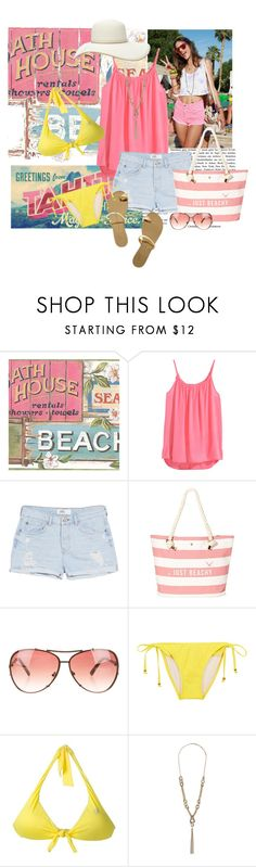 """Beach Time"" by allysha-fa ❤ liked on Polyvore featuring H&M, MANGO, Modalu, Michael Kors, Oasis, Blumarine, Dorothy Perkins and Forever 21"