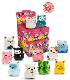 Blind Box Plush: KleptoCats S1  These cats might be cute, but they have a dark side. They can't stop stealing!   These cats will go out and gather items for your room. Now these adorable felines can be yours!  The hit video game is joining the Funko family as  adorable plush Mystery Minis.