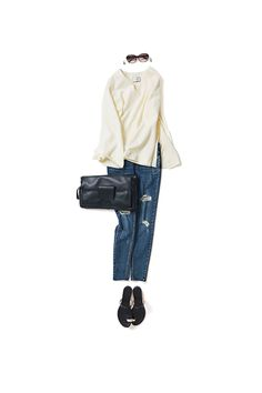 ❤️AI❤️ Japanese Fashion, Asian Fashion, New Outfits, Chic Outfits, Denim Fashion, Womens Fashion, Fashion Capsule, Fashion Images, Jeans Style