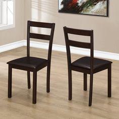 Monarch Specialties Davis Dining Chair - Set of 2 - I 1176