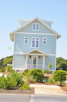 Blue Beach House. I need a home in this color.