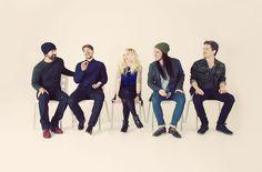 "Walk Off the Earth: Mike ""The Beard"" Taylor, Ryan Marshall, Sarah Blackwood, Gianni Luminati and Joel Cassady."