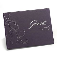 Bring a regal touch to your wedding day with this purple guest book. Featuring a sophisticated swirls and dots motif this book will make a treasured keepsake long after your special day is over. Size: x Purple Swirl Dots Wedding Guest Book Discount Wedding Invitations, Personalized Books, Wedding Party Favors, Craft Wedding, Garden Wedding, Book Pages, Wedding Guest Book, Purple Wedding, Reception Decorations