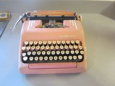 I need to stop drooling over these.... ;-)  VINTAGE 50'S SMITH CORONA SILENT SUPER PORTABLE TYPEWRITER...PINK...KEY BOOK ETC   eBay