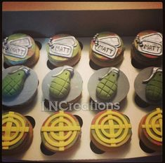 Call of Duty Inspired Fondant Cupcake Toppers by LNCreations1