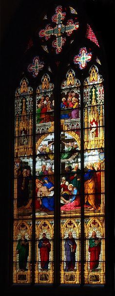 Spectacular stained glass. Kölner Dom - Cologne Cathedral, Germany