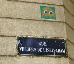 Invader Paris, Belleville Paris, Isle Adam, Space, Visual Arts, Butterflies, Floor Space, Spaces
