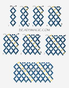 FREE Pattern for beaded necklace KATRINA   Beads Magic#more-9338. Use: seed beads 11/0, bugle beads 6mm. Page 2 of 2