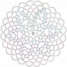 Crochet Tablecloth Pattern, Crochet Snowflake Pattern, Crochet Doily Diagram, Crochet Doily Patterns, Crochet Snowflakes, Crochet Mandala, Crochet Chart, Crochet Granny, Filet Crochet