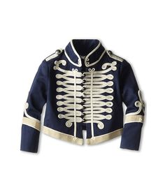 Stella McCartney Kids Will Military Jacket (Toddler/Little Kids/Big Kids) Navy - Zappos Couture