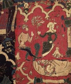 Stumpwork depicting Tristan and Isolde (textile), 16th century