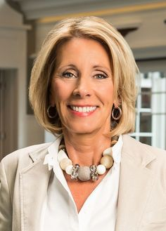 Education Secretary-Betsy DeVos Mr. Trump has selected Ms. DeVos, a former chairwoman of the Michigan Republican Party and an education activist who is a passionate believer in school choice, as his nominee.