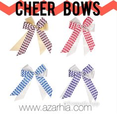 Cheer Bows! Tons of options to create your team bow on our website www.azarhia.com