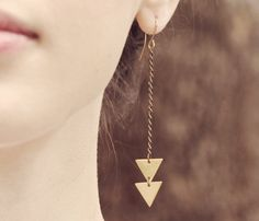 {Brass Arrow Earrings} by ofmatter