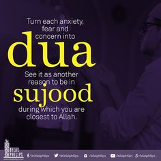 """Prophet Muhammad ﷺ said, """"The servant is nearest to his Lord during prostration, so increase your supplications therein."""" [Muslim] #islamicOnlineUniversity #BilalPhilips"""