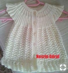 Hızlı ve Kolay Resim Paylaşımı - resim yükle - resim paylaş - Hızlı Resim/вяжем детям / Crochet Baby Dress Pattern, Baby Cardigan Knitting Pattern, Baby Dress Patterns, Baby Knitting Patterns, Knitting Designs, Girls Knitted Dress, Crochet Summer Dresses, Knit Baby Dress, Knitted Baby Clothes
