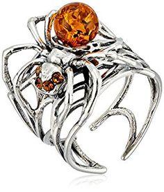 Amber Sterling Silver Spider Ring. Adorbs. So Steampunk. https://www.amazon.com/Amber-Sterling-Silver-Spider-Large/dp/B01N8WRV00/ref=as_sl_pc_as_ss_li_til?tag=serendripple-20&linkCode=w00&linkId=2503fa3dc8edb1d910bb8a2517879e3c&creativeASIN=B01N8WRV00