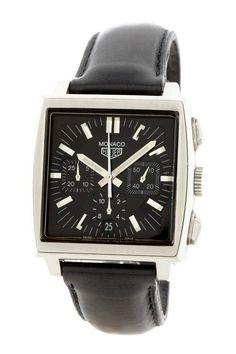Tag Heuer Men's Monaco chronograph watch on @HauteLook #watches #tagheuer #luxury