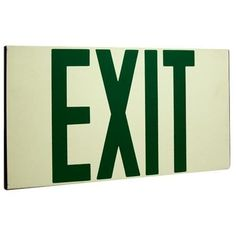 Elco EE80S Self Illuminating Exit Sign with Green Letters
