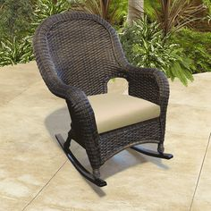 Outdoor Wicker Rocking Chairs - Home Furniture Design Wicker Rocker, Wicker Rocking Chair, Wicker Ottoman, Outdoor Rocking Chairs, Outdoor Wicker Furniture, Wicker Chairs, Patio Chairs, Outdoor Decor, Patio Cushions