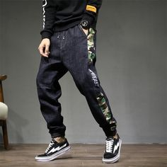 Women's Trendy New Arrivals, Various Clothes Styles For Choices. Fashion Pants, Mens Fashion, Fashion Outfits, Fashion Clothes, Ripped Jeans Men, Black Jeans, Harem Pants Men, Men's Pants, Loose Pants