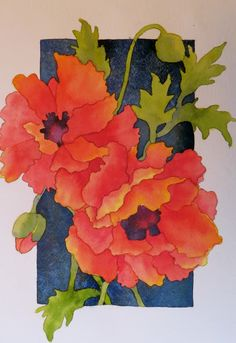 The Painted Prism: WATERCOLOR WORKSHOP: Painting Red Poppies tutorial. use cactus flowers and pale cactus behind the dark backdrop Watercolor Poppies, Watercolor Cards, Red Poppies, Watercolor Paintings, Watercolors, Watercolor Lesson, Poppies Painting, Simple Watercolor, Yellow Roses