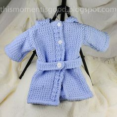 Loom Knit Baby Bathrobe PATTERN. Spa Quality by ThisMomentisGood